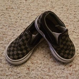 Van's Toddler Checkered Slip On